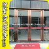 Porte d'entrée en verre de sécurité commerciale extérieure d'acier inoxydable