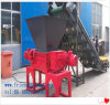 Double machine industrielle de défibreur de pneu d'arbre