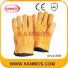 Schwein-Korn-Leder-industrielle Sicherheits-Treiber-Arbeits-Handschuhe (22204)