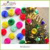 Ornamento da árvore de Natal da esfera do favo de mel do papel de tecido