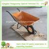 Yellow de transport Color Wheelbarrow Wb6401 65L pour l'Espagne