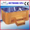 Vasca da bagno di legno interna blu di massaggio del pannello esterno (AT-1935)