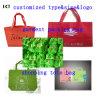 Action personnalisée promotionnelle pliable réutilisée non tissée Kxt-Wb01 de logo de sac à provisions
