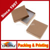 Kraft Brown Square Cardboard Jewelry Boxes (110340)