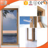 One Sash Heded Door Double Glazing Powder Revestimento de liga de alumínio com moldura escondida, Highly Praised Solid Wood Hinged Door