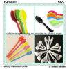 Colher descartável plástica colorida personalizada