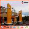 백색 또는 Building Wall (AF-380)에 있는 Orange PVDF Coating External ACP/Acm Used