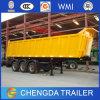 중국 제조자 세 배 차축 트레일러 60 톤 반 덤프 팁 주는 사람
