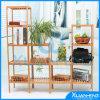 Biblioteca decorativa de bambu da prateleira
