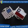 カスタム方法ホールダーの国旗の形の金属のバッジの折りえりPin
