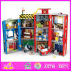 2014 forma New Wooden Dollhouse Toy, Wholesale DIY Wooden Dollhouse Toy, 3D Colorful Wooden Baby Dollhouse Toy W06A047