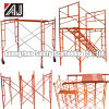 Guangzhou DIP Painted Steel H Frame Scafolding per Building Construction Project