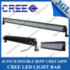 diodo emissor de luz Driving Light do CREE 43  240W, diodo emissor de luz Light Bar do CREE 80*3W, Work Light Bar com Spot/Flood/Beam combinado, 4X4 Drive Lights