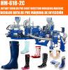 Amorçages de pluie rotatoires de PVC de Hm-618-2c effectuant par injection le moulage usiner (horizontal, 1/2/3 couleur)