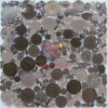 円形およびCracked Crystal Stone Mixed Art Mosaic (CS210)