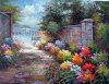 Pittura a olio all'ingrosso del giardino su tela di canapa (T98)