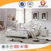 Европейская кровать короля Кровати Спальни Мебели Устанавливать роскошная кожаный (UL-FT620)