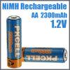 Batería recargable AA 2300mAh de NiMH del consumidor