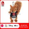 Juguete lindo de Keychain de la felpa del animal relleno de la ardilla del juguete de la promoción