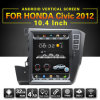 Carro GPS da tela vertical Android 10.4 do OEM  para Honda Civic