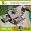 Pátio ao ar livre que janta o jogo da tabela de jantar da mobília