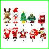 Movimentação do flash do USB da árvore de Natal do disco do USB dos desenhos animados