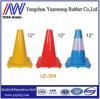 Cones de borracha do tráfego de estrada do PE reflexivo vermelho e branco com altura 450mm