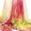 O costume da forma imprimiu o lenço longo de seda de 100%