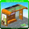 벤치를 광고하는 버스 대기소 빛 상자 버스 간이 건축물 버스