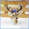Applique barato bordado de la venta al por mayor del diseño de los ciervos de la goma del paño