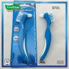 Cepillo de la dentadura de la maneta de PP+TPR para la limpieza del diente falso