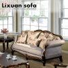 La Tabella classica del tessuto del sofà dell'oggetto d'antiquariato della presidenza americana di Loveseat ha impostato con il blocco per grafici di legno per il salone