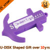 USB viola Pendrive dell'ancoraggio del PVC di abitudine per i regali di navigazione (YT-PA)