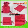 ギフトのための赤のResuableのキャンバスのドローストリングのパッキング袋