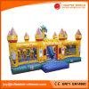 Riesiges kommerzielles aufblasbares Drache-Schloss mit dem Hindernis-Plättchen kombiniert (T6-050B)