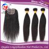 1 часть 4  *4  Top Closure и человеческие волосы Weft 3 Pieces Remy Virgin Straight (HSTB-A460)