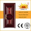 正面玄関の外部の単一の葉の鋼鉄機密保護のドア(SC-S097)