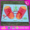 2015 nuovo Wooden Puzzle Toy Shoes, Popular Wood Puzzle Toy, Hot Sale Wood Puzzle Game, Wood Puzzle per Children W14D014
