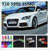 제비 도매 Canbus T10 5SMD 5050 LED 차 LED 가벼운 Canbus W5w 194 5050의 SMD 정상 가동 공정한 판단 전구