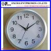 Impresión de la insignia insignia plástica redonda del reloj de pared de 10 pulgadas (EP-Item3-silver)