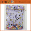 Purpurrotes Inner-Form-Organza-Verpackungs-Tasche