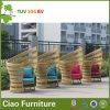 贅沢な藤の屋外の家具のホテルの一義的な柳細工の横たわる椅子