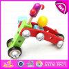 Carro de madeira educacional Amusing para miúdos, combinação de madeira de múltiplos propósitos do brinquedo do conjunto do parafuso da porca do parafuso do brinquedo para as crianças W03c017