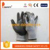 Серый нейлон с черным нитрилом Glove-Dnn426