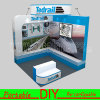 Reconfiguración modular reutilizable portable de la feria profesional de la exposición que hace publicidad del equipo