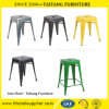 多彩な鉄の正方形の食事の椅子の屋外の椅子