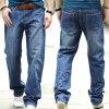 工場OEMの人は緩いジョガーの伸張の偶然のデニムのジーンズより長持ちする
