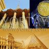 Perlas cristalinas de los materiales de revestimiento de la construcción del pigmento del oro de la chispa