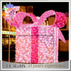 Luz da decoração do motivo da rua da caixa de presente do diodo emissor de luz do Natal