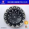 Huazuan 7  T 모양 세그먼트 최신 눌러진 소결 가는 컵 바퀴